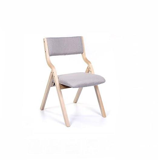 Chair QL sillones Plegables Moderno hogar Silla de Madera ...