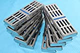 NEW SET OF 10 EACH GERMAN DENTAL AUTOCLAVE STERILIZATION CASSETTE RACK BOX TRAY FOR 5 INSTRUMENT