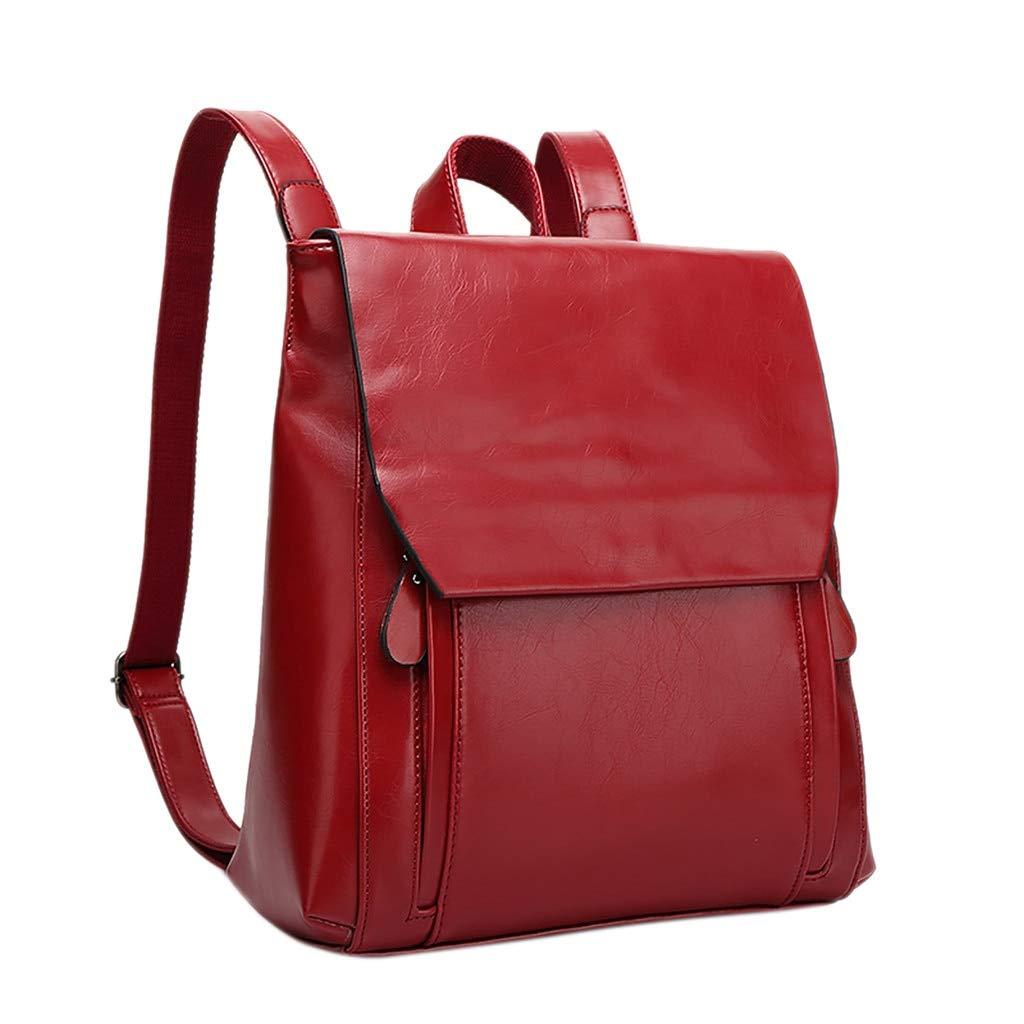 F CAONIW Schultasche Rucksack Frauen Hohe Qualität Ledertasche Weiches Gesicht Mode Retro College Rucksack
