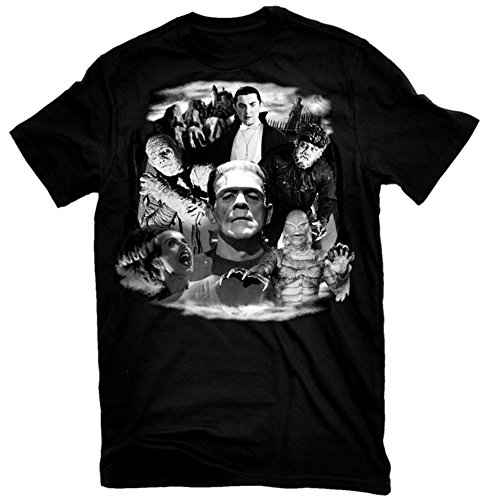 Universal Monsters - Glow in the Dark Monster Collage T-Shirt Size M from Rock Rebel
