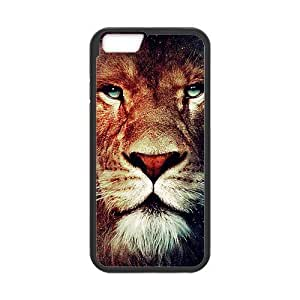 Brown Imposing Lion Face Spot Design Newest Popular Custom Luxury Cover Case For Iphone 6 4.7 (Black) with Best Plastic@ALL