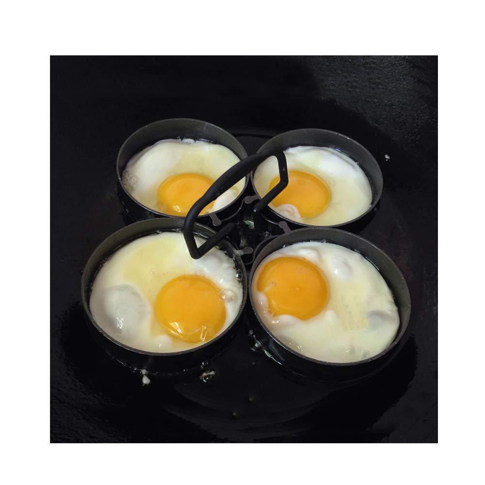 JAWM Nonstick 4-Piece Egg Pancake Ring Set, 995 Nonstick Removable Rings Omelette Egg Frying Mold, Household Family Multi-person Breakfast Omelet Artifact