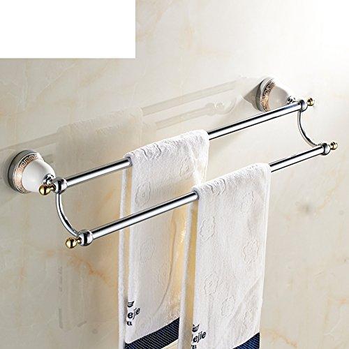 30%OFF Towel Rack/Brass Double Bar Towel Rack/Bathroom Accessories/European
