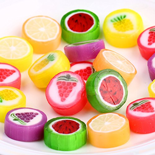 250g (8.8 Oz) Aiyijia Fruity Tastes Slice Candy, Korean Style Cute Sweets, Multi Tastes, Snack, Food ()