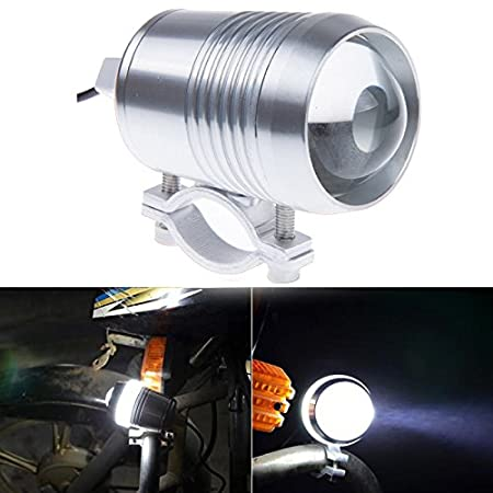 Motorcycle Spotlight, Innoglow Motorcycle Spot Light Lamps Cree 30W 1200LM CREE U2 LED Driving Lights Bicycle Car Boat Waterproof Headlight Travel Camp (Chrome)