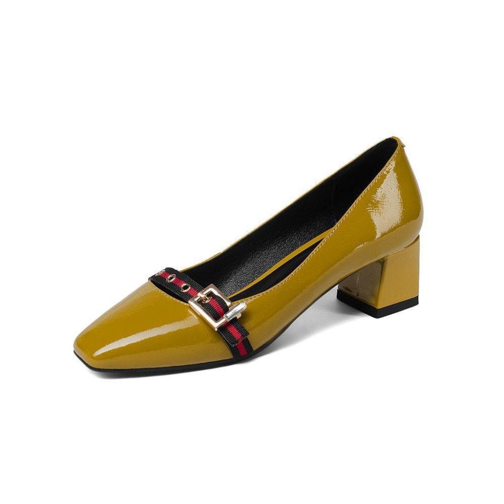 ZHRUI Zapatos de Tacón H5275 Mujeres Sandalias Zapatos Individuales Sandalias Casual Comercio Ceremonia de la Boda De Tacón bajo Altura del Tacón 4.5cm EU38/UK5.5/CN38|101