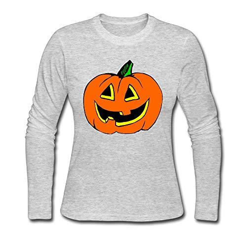 Women's Halloween Pumpkin Clipart ComfortSoft Long-Sleeve T-Shirt Cotton -