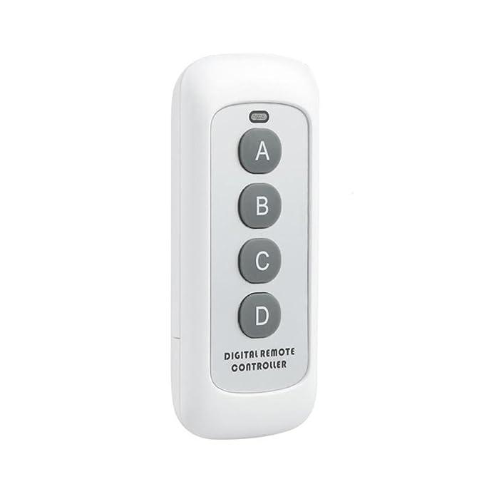 Aiming 433MHz 4 Taste EV1527-Code Fernbedienung Wechseln HF-Sender Wireless Key f/ür Smart Home Garagent/ür/öffner