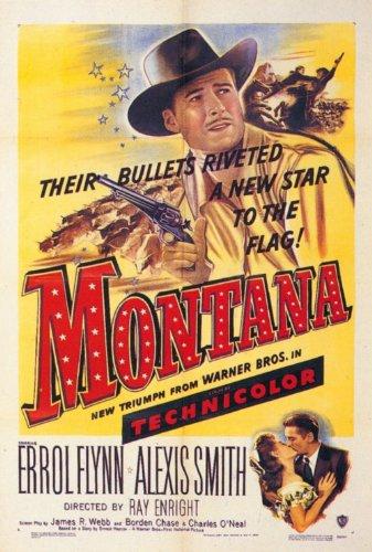 Montana Movie Poster (27 x 40 Inches - 69cm x 102cm) (1950) -(Errol Flynn)(Alexis Smith)(S.Z. Sakall)(Douglas Kennedy)(James Brown) (Film Western)