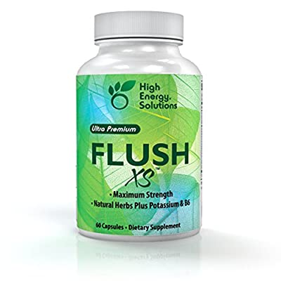 High Energy Solutions Flush XS | Natural Diuretic with Potassium Flushes Excess Fluid From the Body | 60 Count
