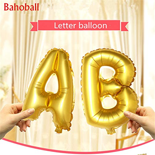 16Inch Gold Letter Foil Balloons Wedding Decoration Inflatable Helium Ballon Happy Birthday Letter Ballons Event Party Supplies D Silver -