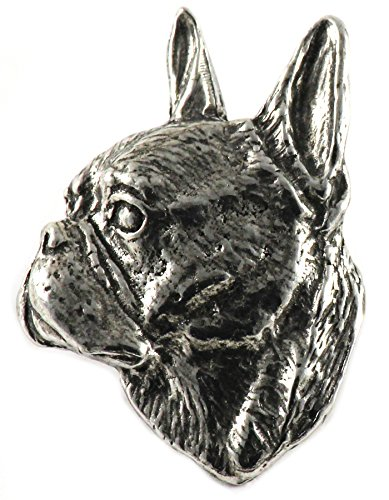 Terrier Dog Brooch Pin - Boston Terrier Dog Pewter Lapel Pin, Brooch, Jewelry, D034