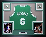 Bill Russell Autographed Green Celtics Jersey - Beautifully Matted and Framed - Hand Signed By Bill Russell and Certified Authentic by Auto PSA COA - Includes Certificate of Authenticity