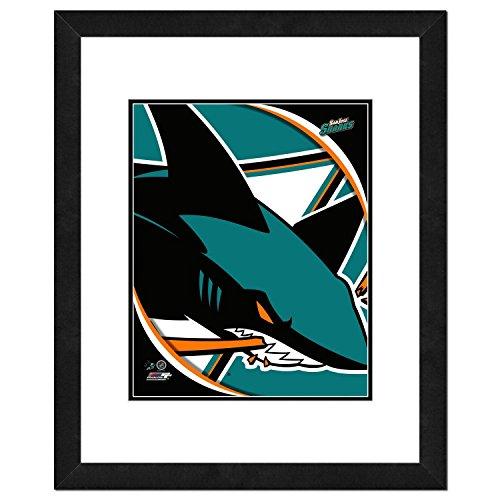 (NHL San Jose Sharks Team Logo Double Matted & Framed Photo, 18