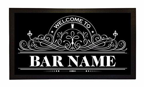 Bar Runner Bar Name Drip Spill Mat Personalized Bar Gifts