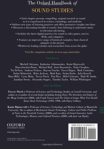 The oxford handbook of sound studies oxford handbooks trevor the oxford handbook of sound studies oxford handbooks trevor pinch karin bijsterveld 9780199995813 amazon books fandeluxe Choice Image