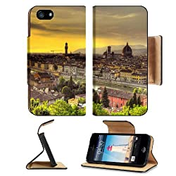 Florence Italy Sunset Beautiful Scenery Apple iPhone 5 / 5S Flip Cover Case with Card Holder