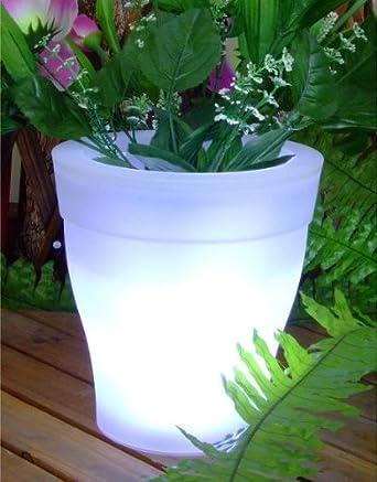Solarleuchte Solarlampe Solartopf LED Licht Blumentopf Solar ...