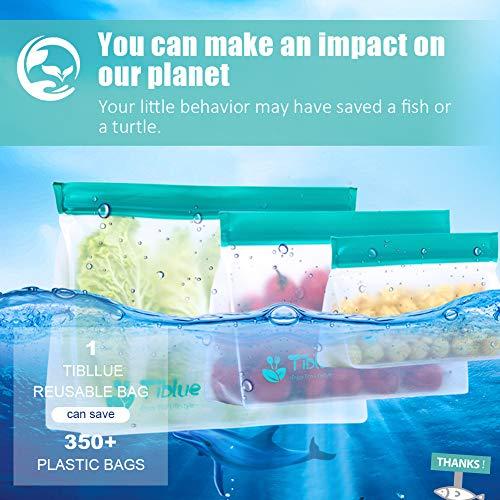 Reusable Storage Bags  5 Pack STANDUP BPA FREE Freezer Bags 2 Reusable Sandwich Bag  2 Reusable