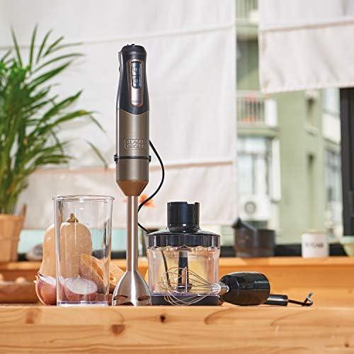 Black + Decker BXHBA1000E Mixeur Plongeant, Acier inoxidable, Noir