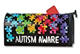 MailWraps Autism Aware Mailbox Cover 01354