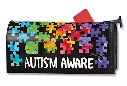 MailWraps Autism Aware Mailbox Cover 01354