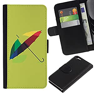 KingStore / Leather Etui en cuir / Apple Iphone 6 / Dise?o paraguas colorido
