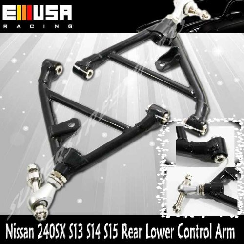 1989-1994 Nissan 240SX (S13) 1995-1998 Nissan 240SX (S14) 1989-1994 Nissan 180SX (J-Spec Version)1990-1996 Nissan 300SX (Z32) Adjustable Rear Lower Control Arm Black