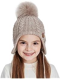 Toddler Kids Winter Ear Flap Beanie Hat Boy Girl Fur...