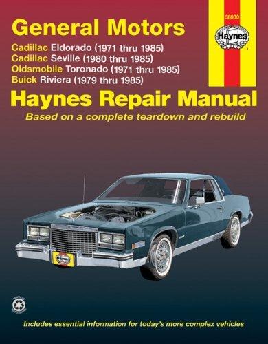 Haynes Eldorado Seville Toronado Riviera Automotive Repair Manual