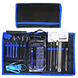 Sanhooii 74 in 1 Mobile Phone Precision Repair Tools Set Bag Tweezers/Opening Kit/Magnetic Screwdriver Accessory Kit for iPhone 6s 5s iPad 4 Cell Phone, Tablet, Game Consoles, PC, Macbook, Electronics