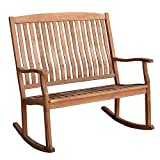 Cambridge-Casual AMZ-130776T Arie Teak Loveseat Rocking Chair, Natural Review