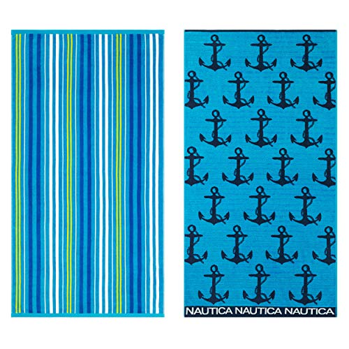 (Nautica Anchor Stripe/Lullwater Beach Towel Set 36 x)