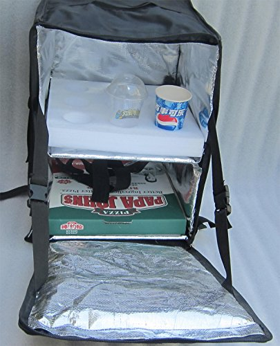 PK-96Z: Insulated Food Delivery Bag, Thermal Pizza Delive...