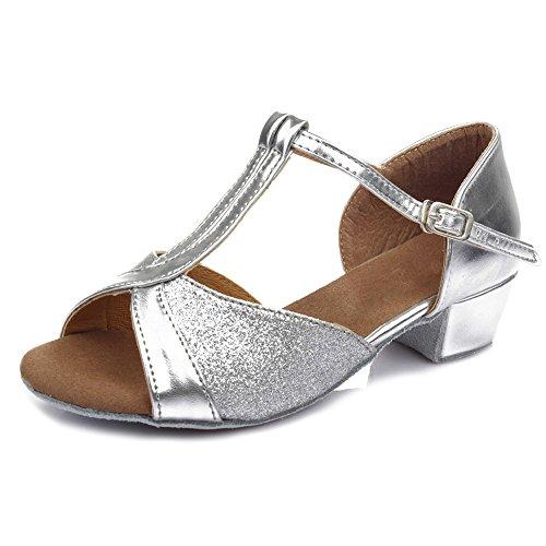 UK Dance Women Model Satin Silver Latin Shoes Ballroom 305 SWDZM FwHAqCx