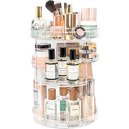 Beauty Shopping Makeup Organizer by Tranquil Abode | Adjustable, Spinning Storage