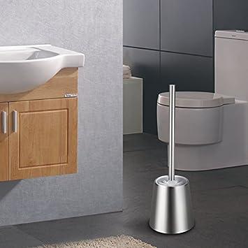 OYSHOPP Portascopino WC Bagno Acciaio Inossidabile Alta qualità spazzolino WC Acciaio Inox(01-sferica)
