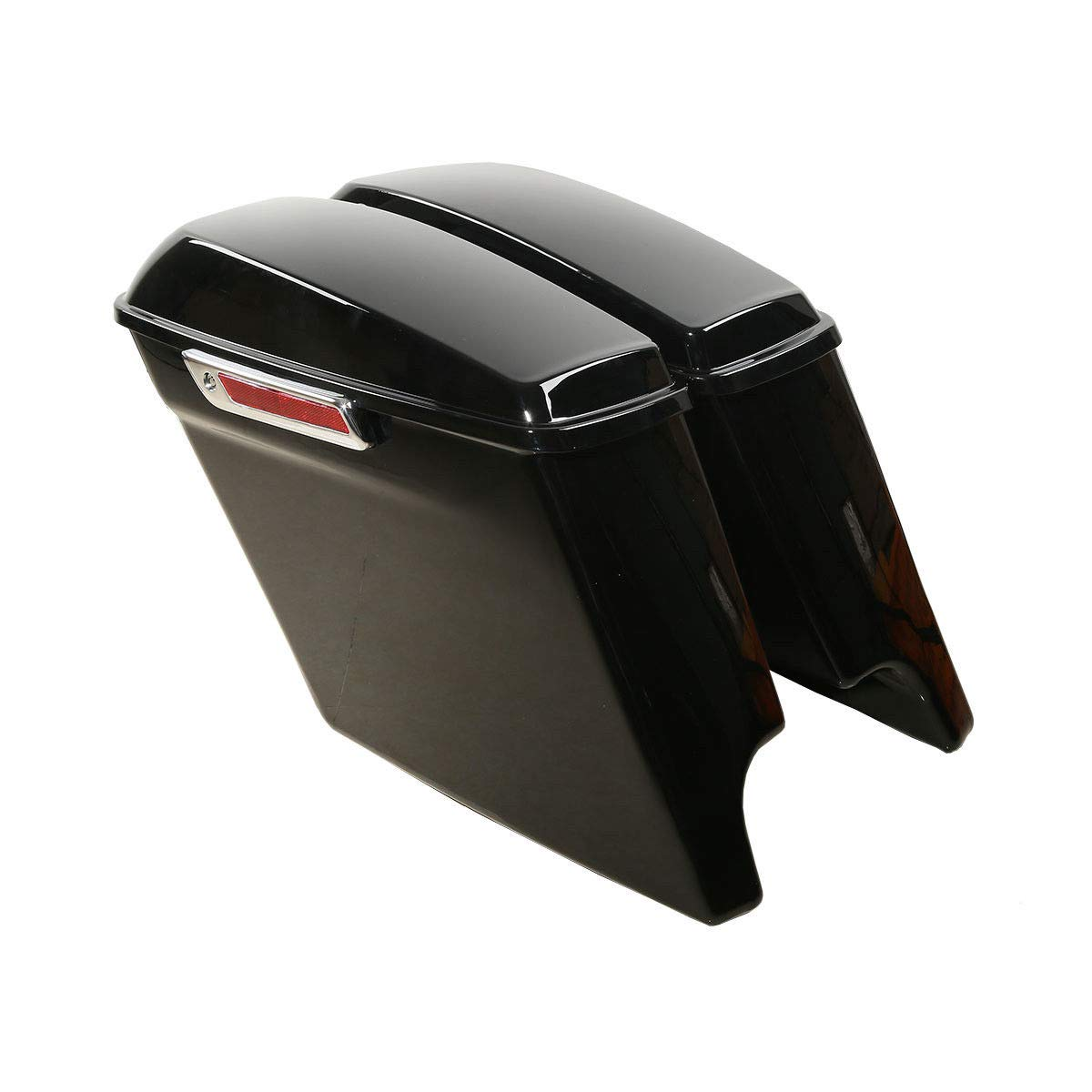 TCMT 5'' Stretched Extended Saddlebags W/Latch Key Fits For Harley Touring 2014-2019 by TCMT (Image #2)