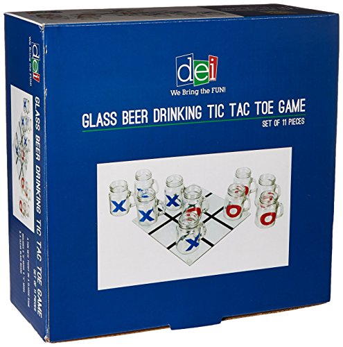 DEI Glass Beer Drinking Tic Tac Toe Game ()