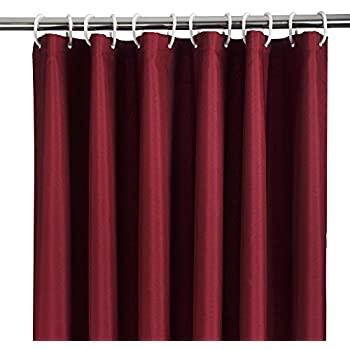 Lush decor maria shower curtain red home - What uses more water bath or shower ...