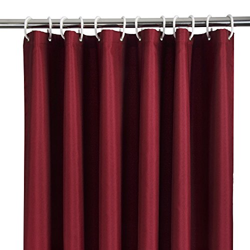 Authentic Ufriday Elegant Fabric Shower Curtain Water Repellent No More Mildew With Rust Proof