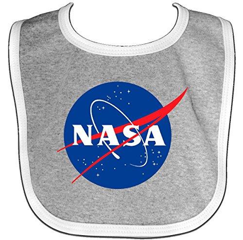 Inktastic - NASA Logo Baby Bib Heather/White - Nasa Bib