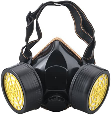 Leeko Anti-dust Spray Chemical Gas Dual Cartridge Respirator Paint Filter Mask with Activated Carbon Box