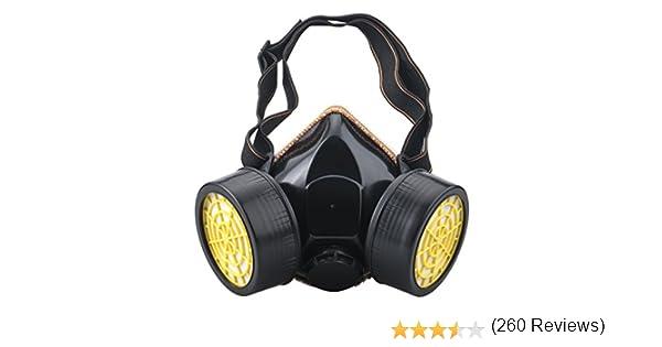 Ewolee Máscara Antigas, Gas Mask Respirador de Cartucho Doble ...