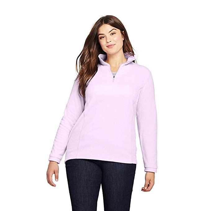 c8b598c6bf4 Lands  End Women s Plus Size Quarter Zip Fleece Pullover