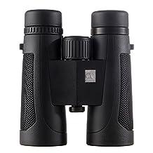 Binoculars for Adults Bird Watching Hunting Sightseeing, 10X42 HD Compact binocular , Waterproof, Close Focus. Better and Brighter Birding Experiences 43-Black