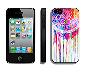 Cute Apple Iphone 4s Case Durable Soft Silicone TPU Colorful Dream Catcher Black Cell Phone Case Cover for Iphone 4