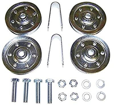 Complete Set of Pulleys and Sheaves For Garage Door Hardware Stud and Clevis for All Brands