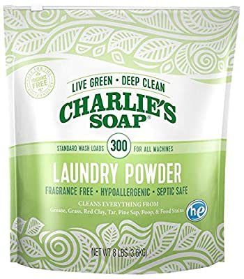 Charlie's Soap – Fragrance Free Powder Laundry Detergent - 300 Load