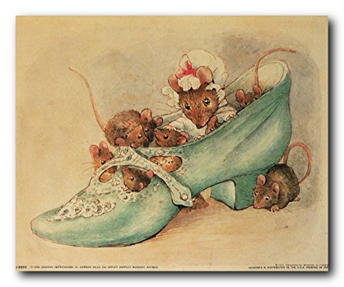 (Wall Decor Beatrix Potter Apple Dappley Nursery Rhymes Kids Room Art Print Poster (8x10) )